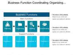 Business Function Coordinating Organizing Planning Staffing Icons