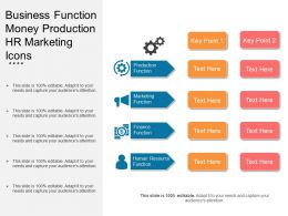Business Function Money Production Hr Marketing Icons