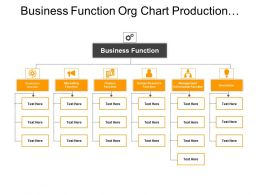 Business Function Org Chart Production Money Management Innovation