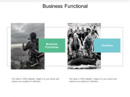 Business Functional Ppt Powerpoint Presentation Layouts Slide Portrait Cpb