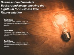Business Fundamentals Background Image Showing The Lightbulb For Business Idea Representation