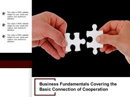 Business Fundamentals Covering The Basic Connection Of Cooperation