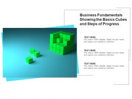 Business Fundamentals Showing The Basics Cubes And Steps Of Progress