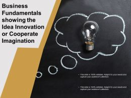 Business Fundamentals Showing The Idea Innovation Or Cooperate Imagination