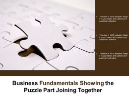 Business Fundamentals Showing The Puzzle Part Joining Together