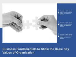 Business Fundamentals To Show The Basic Key Values Of Organisation