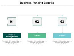 Business Funding Benefits Ppt Powerpoint Presentation Professional Graphics Tutorials Cpb