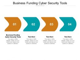 Business Funding Cyber Security Tools Ppt Powerpoint Presentation Gallery Model Cpb