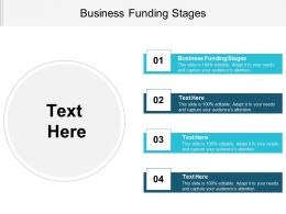Business Funding Stages Ppt Powerpoint Presentation File Infographic Template Cpb
