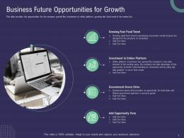 Business Future Opportunities For Growth Ppt Powerpoint Presentation Ideas Portfolio