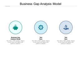 Business Gap Analysis Model Ppt Powerpoint Presentation File Diagrams Cpb