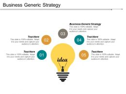 Business Generic Strategy Ppt Powerpoint Presentation Infographic Template Backgrounds Cpb