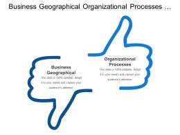Business Geographical Organizational Processes Business Capabilities External Networks