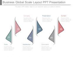Business Global Scale Layout Ppt Presentation