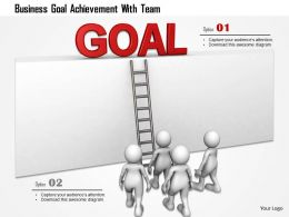 Business Goal Achievement With Team Ppt Graphics Icons