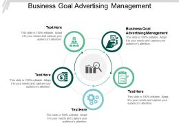 Business Goal Advertising Management Ppt Powerpoint Presentation Slides Professional Cpb