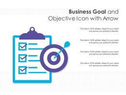 Business Goal And Objective Icon With Arrow