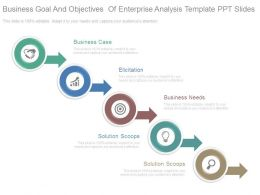 Business Goal And Objectives Of Enterprise Analysis Template Ppt Slides