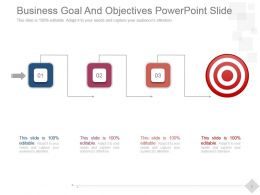 Business Goal And Objectives Powerpoint Slide