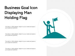 Business Goal Icon Displaying Man Holding Flag