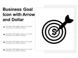 Business Goal Icon With Arrow And Dollar