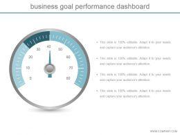 Business Goal Performance Dashboard Ppt Slide Styles