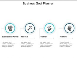 Business Goal Planner Ppt Powerpoint Presentation Show Slides Cpb