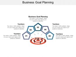 Business Goal Planning Ppt Powerpoint Presentation Professional Graphic Tips Cpb