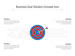 Business Goal Solution Concept Icon