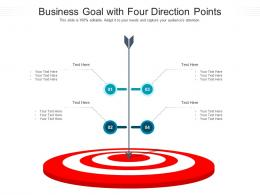 Business Goal With Four Direction Points Infographic Template