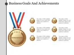Business Goals And Achievements Powerpoint Templates