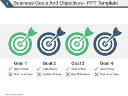 Business Goals And Objectives Ppt Template