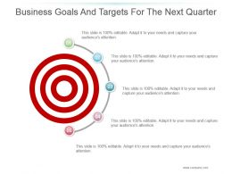 Business Goals And Targets For The Next Quarter Powerpoint Shapes