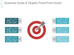 Business Goals And Targets Powerpoint Guide