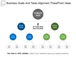 Business Goals And Tasks Alignment Powerpoint Ideas
