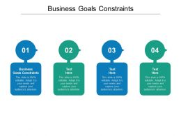 Business Goals Constraints Ppt Powerpoint Presentation Ideas Outfit Cpb