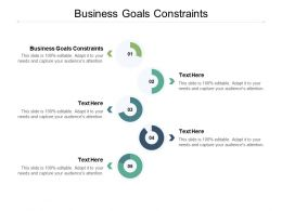 Business Goals Constraints Ppt Powerpoint Presentation Infographic Template Summary Cpb