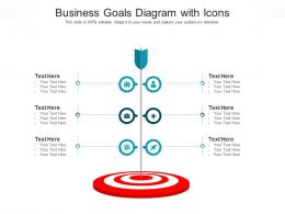 Business Goals Diagram With Icons Infographic Template