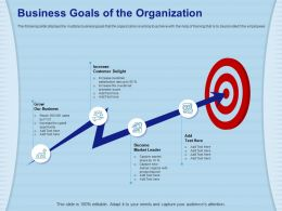 Business Goals Of The Organization Overall Net Ppt Powerpoint Presentation Ideas Clipart