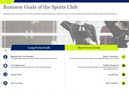Business Goals Of The Sports Club Awareness Ppt Powerpoint Presentation Templates