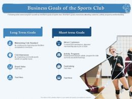 Business Goals Of The Sports Club Both Summer Ppt Powerpoint Presentation Inspiration Styles