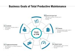 Business Goals Of Total Productive Maintenance