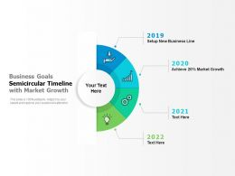 Business Goals Semicircular Timeline With Market Growth