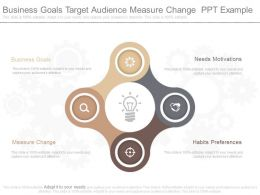 Business Goals Target Audience Ppt Example