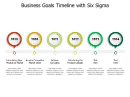 Business Goals Timeline With Six Sigma