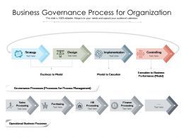 Business Governance Process For Organization