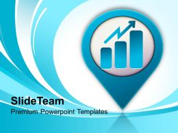 Business Graph Icon Growth PowerPoint Templates PPT Themes And Graphics 0213