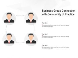 Business Group Connection With Community Of Practice