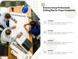Business Group Professionals Drafting Plan For Project Completion