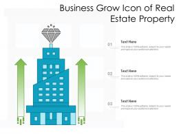 Business Grow Icon Of Real Estate Property